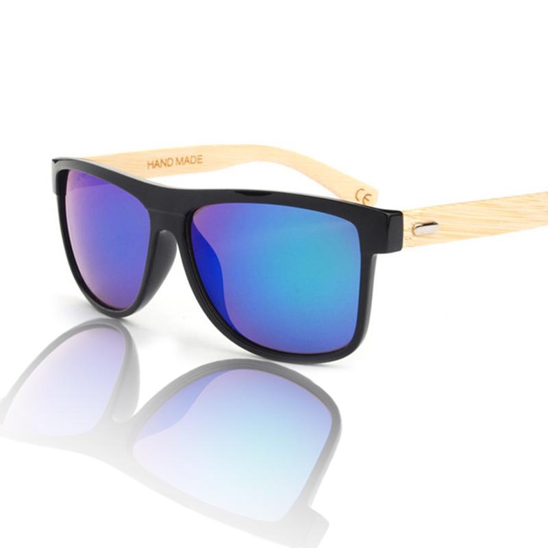 2016 original bamboo wood box AC lens neutral Sunglasses brand fashion designer OEM laser logo Sunglasses(China (Mainland))