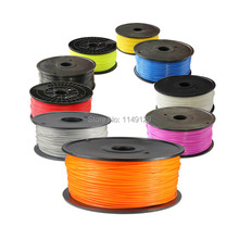 Free Shipping 3D Printer supplies Filament RepRap ABS/PLA 3/1.75mm  plastic Rubber Consumables Material MakerBot/RepRap/UP