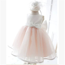 2015 first communion dresses summer baby girls baptism party dress flower girl dresses for 1-2 years vestidos infantis 70885