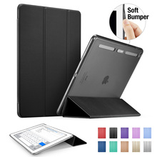"Case for iPad Pro 12.9 inch, ESR Soft TPU Corner Translucent Hybrid Back Cover Auto Wake Smart Cover Case for iPad Pro 12.9""(China (Mainland))"