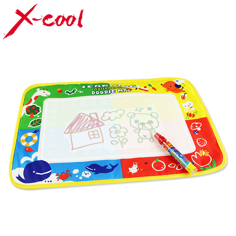 Xc8822 46x30cm 4 color Water Drawing Toys Mat Aquadoodle Mat&1 Magic Pen/Water Drawing board/baby play mat(China (Mainland))