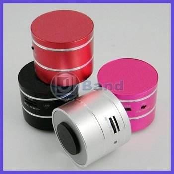 5W Vibration 360 Degree Resonance Mini Speaker With Remote Micro SD/TF Portable Vibrate Speaker Radio Free Shipping