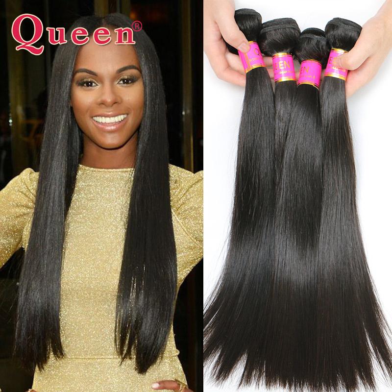 Brazilian Virgin Hair Straight 3 Bundles Queen Hair Products Virgin Braszilian Straight Hair Human Hair Weave