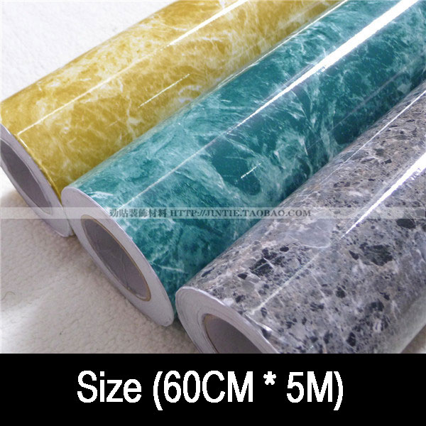 waterproof oil marble furniture refrigerator kitchen cabinet countertop 3 m2 Kitchen wallpaper - HAHA store