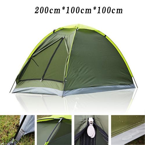 Ultralight Single Tent 1-2 Persons Hiking Fiberglass Rod Pole / Waterproof Outdoor Camping Tents Trekking Green New 2014 - WINGACE Ship-flag Store store
