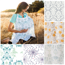 New Nursing Cover Breastfeeding Cover Baby Infant Breathable Cotton Muslin retail wholesale nursing cloth M L large two size big(China (Mainland))