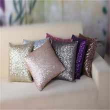8 Colors Solid Glitter Sequins Throw Pillow Case