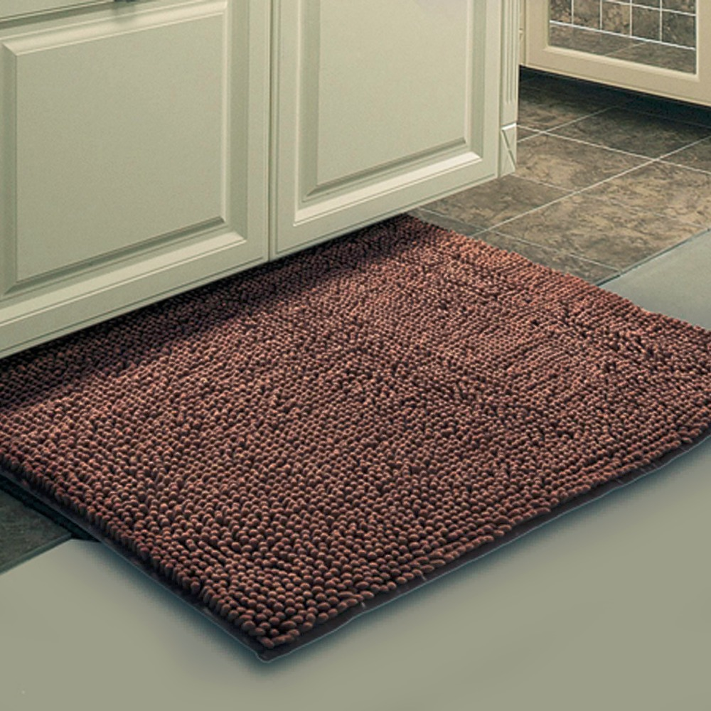 Buy Brown Mat Thick Shaggy Soft Rug Large Size Bath Mat Floor Carpet Footcloth