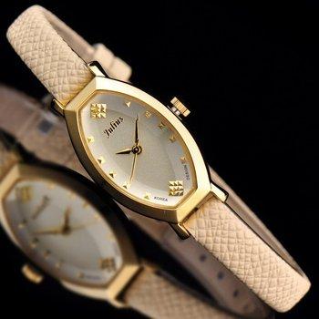 Top Julius Lady Women's Wrist Watch Elegant Simple OL Business Fashion Hours Korea Design Dress Bracelet Leather Girl Gift