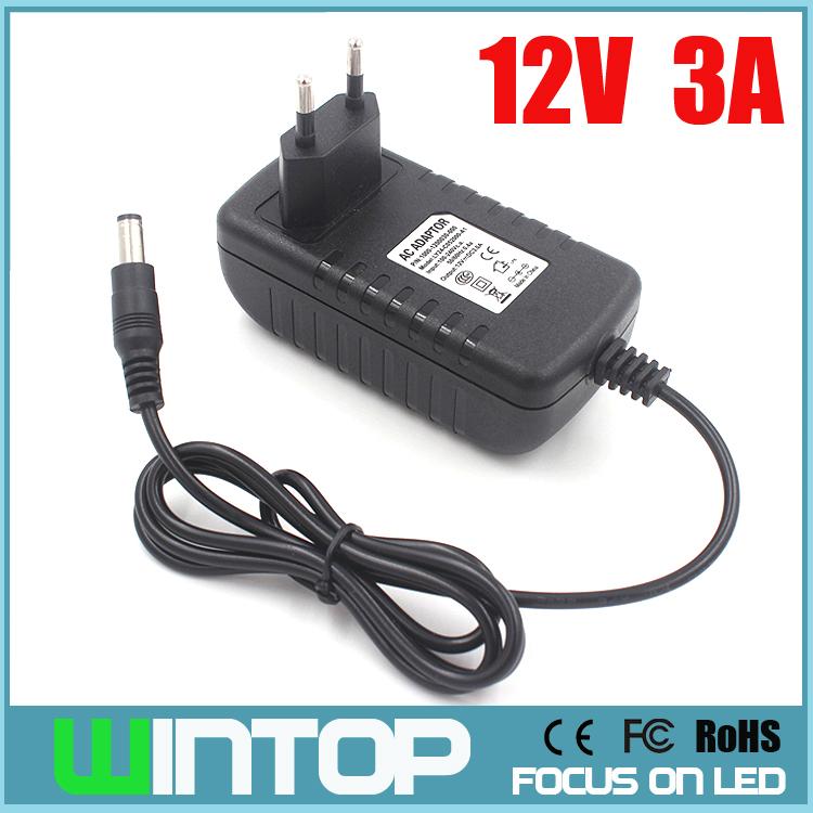 AC100-240V DC12V 3A Adapter Power Supply Converter SMD3528/5050/2835 LED Strip Lights CCTV Cameras EU/US/UK/AU Plug  -  Hongkong Wintop Electronic Technology Co., Ltd store