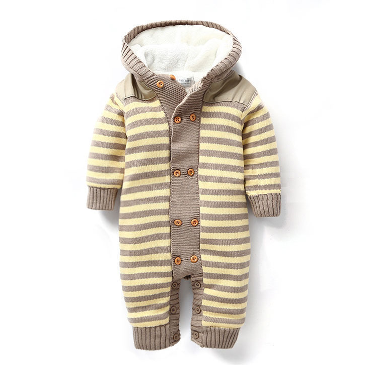 Baby winter rompers plus villus new born jumpsuit one piece wear baby boy clothes recem nascido roupa de bebe menino macacao(China (Mainland))