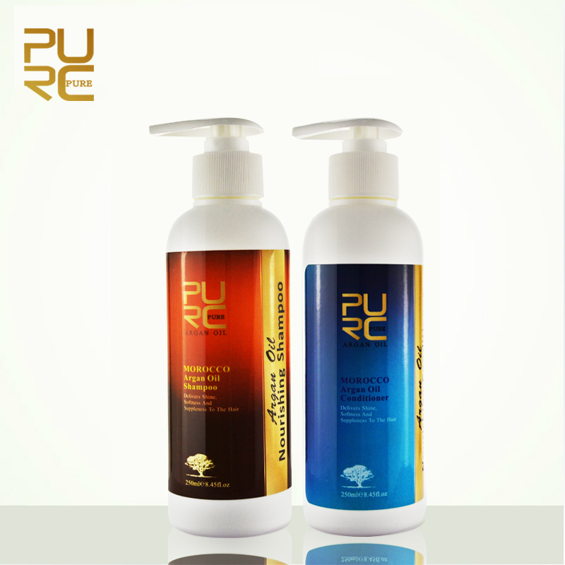 Argan Oil hair shampoo and hair conditioner set free shipping  Hair Care Best hair salon product