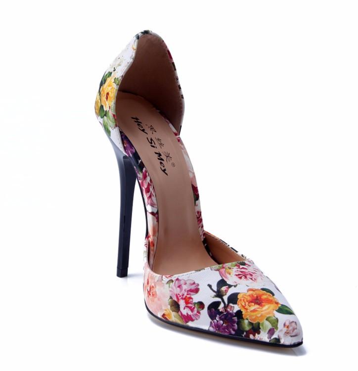 ซื้อ NoEnName_Nullผู้หญิงรองเท้าส้นสูงเซ็กซี่เครื่องรางสุภาพสตรีรองเท้าแต่งงานเจ้าสาวพรรคดอกไม้แหลมToe Pumpsกริชขนาดบวก