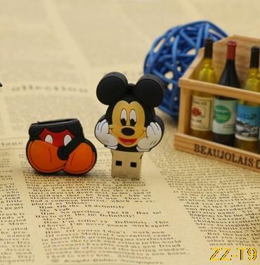 HOT Usb flash drive 1GB 2gb 4gb 8gb 16gb 32gb 64gb gifts Mickey Mouse pen drive fox pen drive flash usb pendrive memory stick(China (Mainland))