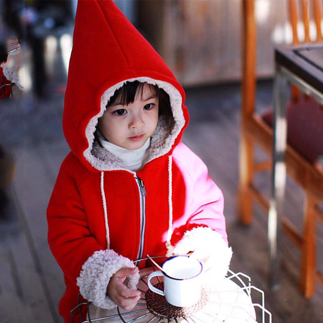 3-7 Т Прекрасные Дети Детская Одежда Зимнее Пальто Пуховик для девушки Парни Куртка Подчеркнуто Hat Мягкий Детская Одежда Красный Фиолетовый коричневый