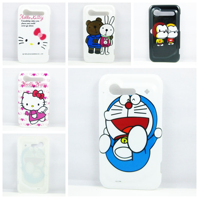 11 Patterns Cartoon Hard Phone Case Cover for HTC Incredible S Case G11 Cover(China (Mainland))