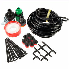 New Arrival DIY Adjustable Size Micro Drip Irrigation System Plant Self Watering Outdoor Garden Hose Kits Tool 8m + 8 Drop Head(China (Mainland))