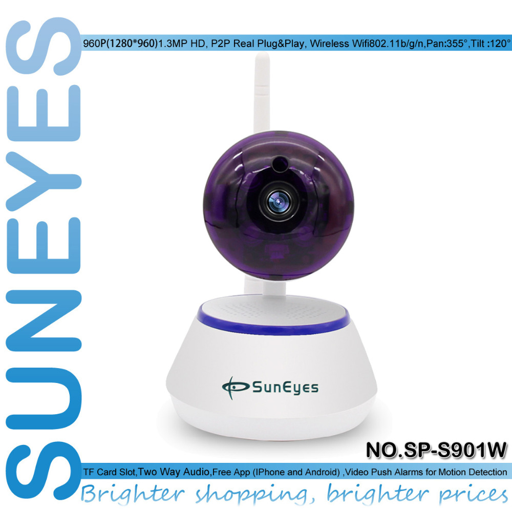 SunEyes SP-S901W 960P 1.3MP HD Wireless Mini IP Camera P2P with Wifi Smart One Key Setup and Motion Detection Alarm TF Card Slot(China (Mainland))