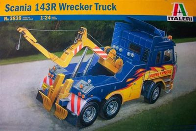 Out of print! Italeri 1/24 3838 Scania 143R Wrecker Truck Model Kit(China (Mainland))
