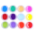 12Pcs set 12 Colors Glitter Dust Powder DIY Nail Gel 3D Nail Art Painting Drawing Nail
