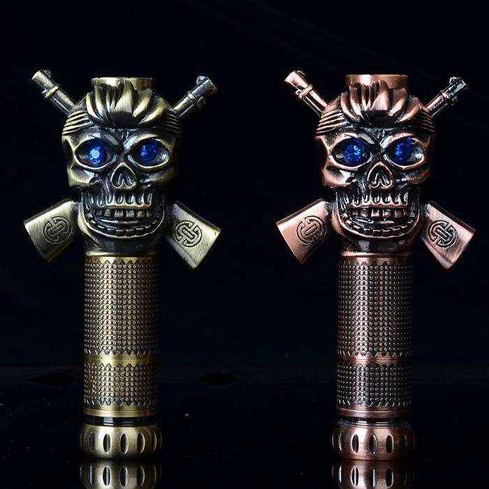 2015 New E Cigarette Caribbean Skull Mod Blue Eyes Electronic Cigarette Mechanical Mod for 18650 18350 Battery Mod <br><br>Aliexpress