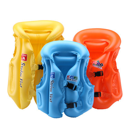 Children Kids Swimming Aid Inflatable Floating Life Jacket Vest Age 1-8 3 COLORS Baby Beach Swim Safe Vest Pool Float Aid Suit(China (Mainland))