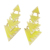 Triangle Geometric Irregular Yellow Enamel Punk Drop  Earrings Bijoux Gorgeous Gold Color Brincos de festa