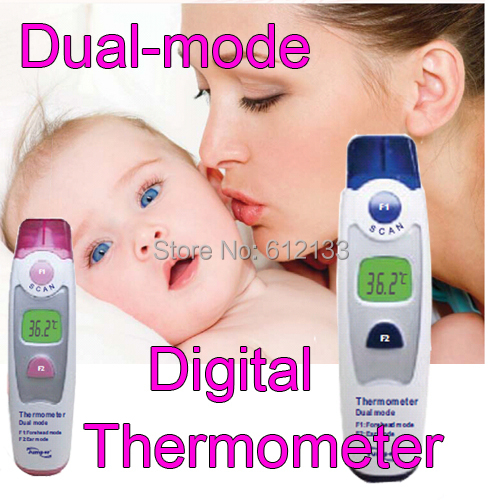 Dual Mode Infrared Digital Thermometer Temperature Forehead Temperature Ear Temperature safe for children Adult(China (Mainland))