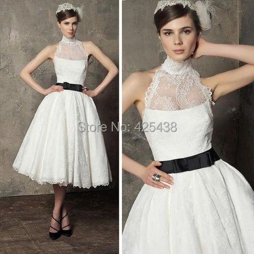 Halter Black And White Wedding Dresses