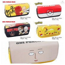 Cartoon anime stationary Pokemon Pikachu & One punch man & Fairy tail &Totoro pen bag / pencil case/Pen pocket