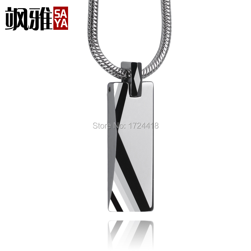en webid men tungsten s polished pendants bijouxstore bar pendant