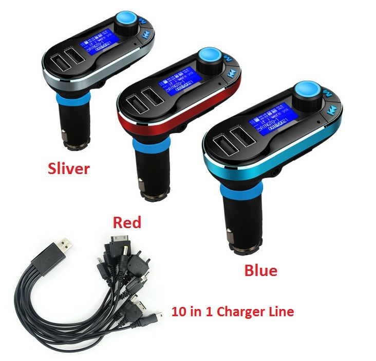 Car MP3 Player & Dual USB Car Charger TF Card FM Transmitter Remote Control Auto Audio Player LCD Screen 12V MP3 Player(China (Mainland))