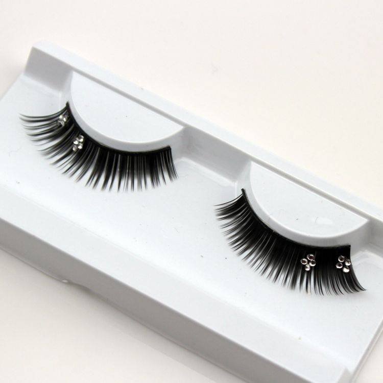 1 pairs eyelash extension wedding photography theatrical design crystal exaggerated false eyelashes for women makeup XZ034(China (Mainland))