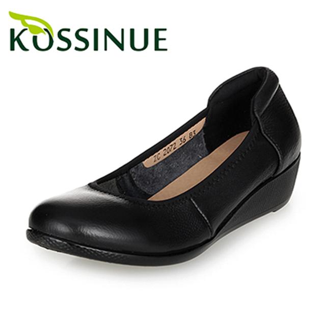 Плюс размер 35-43 новых женщин осень обувь ручной работы удобная натуральная кожа ...