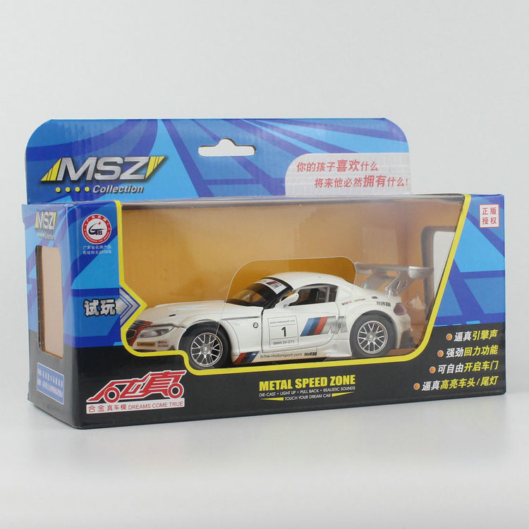 (5pcs/pack) CAIPO 1/32 Scale Classical Z4 GT3 Racing Car Diecast Metal Musical Flashing Pull Back Car Model Toy New In Box<br><br>Aliexpress