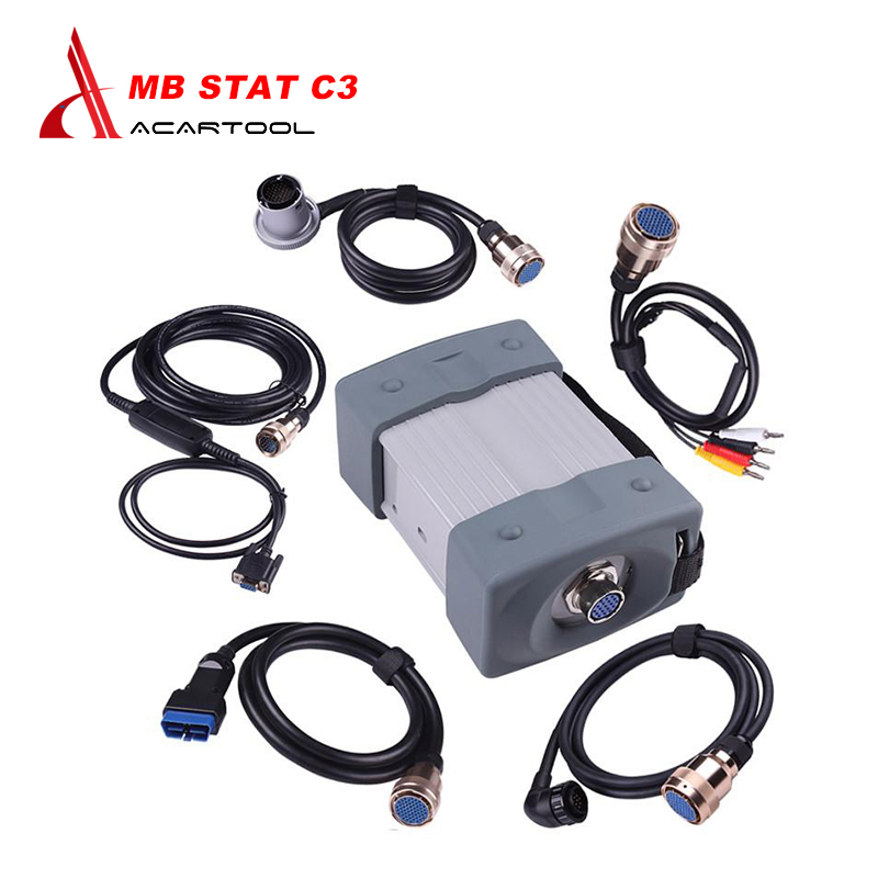 Quality A mb star c3 full set with all cables mb c3 star diagnosis tool for car and trucks star c3 multiplexer without software(China (Mainland))