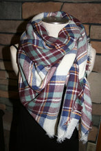 New design lady Multi Color rainbow font b Tartan b font Plaid Blanket Scarf check wrap