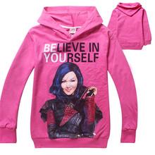 2016 New Arrivals Descendants Hoodies Baby Girl Clothes Cartoon Children Sweatshirt Fashion Girls Tops Kids Clothes 6-14T