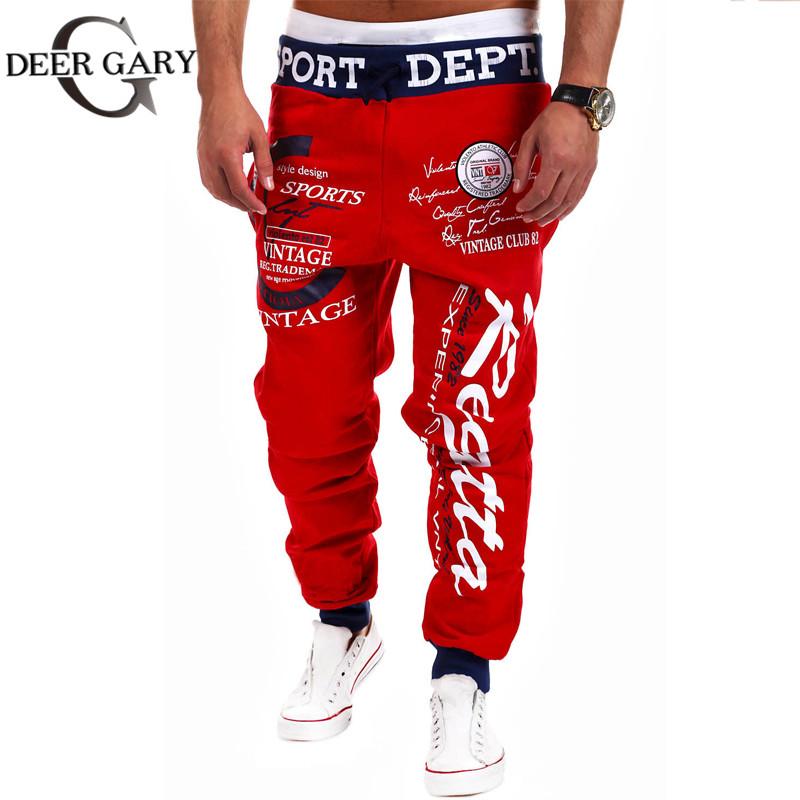 Free Shipping Jogger Pants Outdoors Joggers Men 2015 New Fashion Letter Print Harem Pants Sweat Pants Men Trousers Sports wear(China (Mainland))