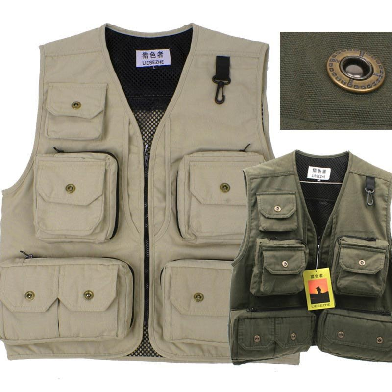,Outdoor,Photography vest, male, multi-pocket camera, reporter, director ,2015 NEW 4 color choices - yuetao wu's store