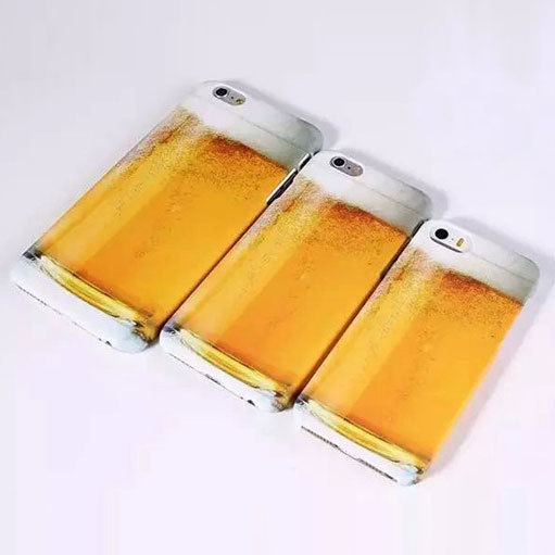 Ultrathin PC Hard Back Cover Cases For Iphone 5 6 6 plus Mobile Skins Ultra Thin Beer Cup Case Back Cover Shell For Iphone Cases(China (Mainland))
