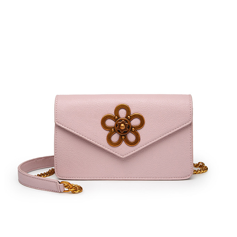 New Small Women Messenger Bags Floral Shoulder Bag High Quality PU Leather Crossbody Mini Clutch Handbags Chain Bag for Girl(China (Mainland))