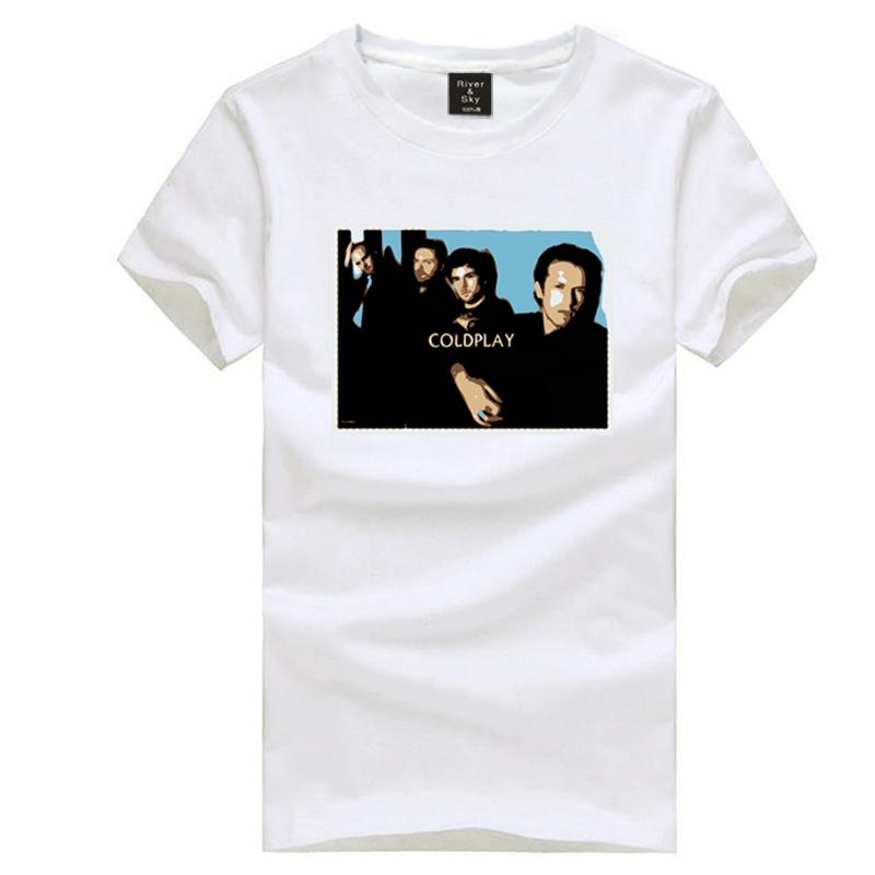 Coldplay member photo printing t shirt UK rock band short sleeve t-shirt fashion tee shirt(China (Mainland))
