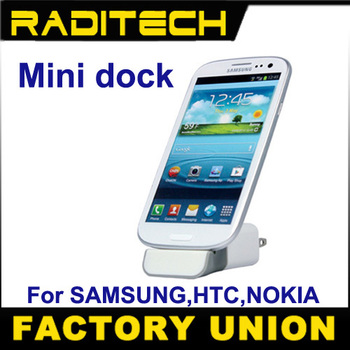 HK Post! Mini dock cradle wall charger docking station for Samsung Galaxy S note,HTC ONE,Nokia Lumia 920 etc