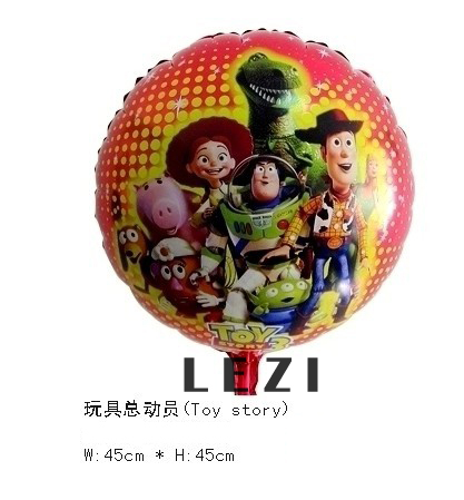 Discount!!! 50pcs/lots wholesales 18 inch cartoon balloons , Toy store foil balloon, Brithday balloon Free shipping(China (Mainland))