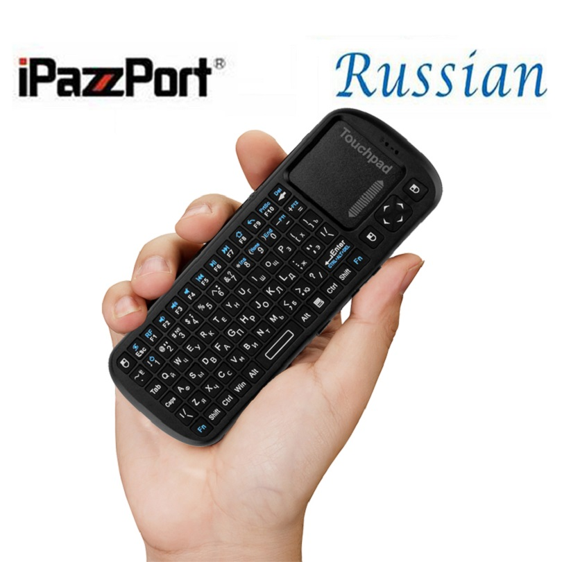 Russian layout wireless mini keyboard from iPazzPort 2.4Ghz laptop pc external wireless keyboard for Android Smart TV BOX(China (Mainland))