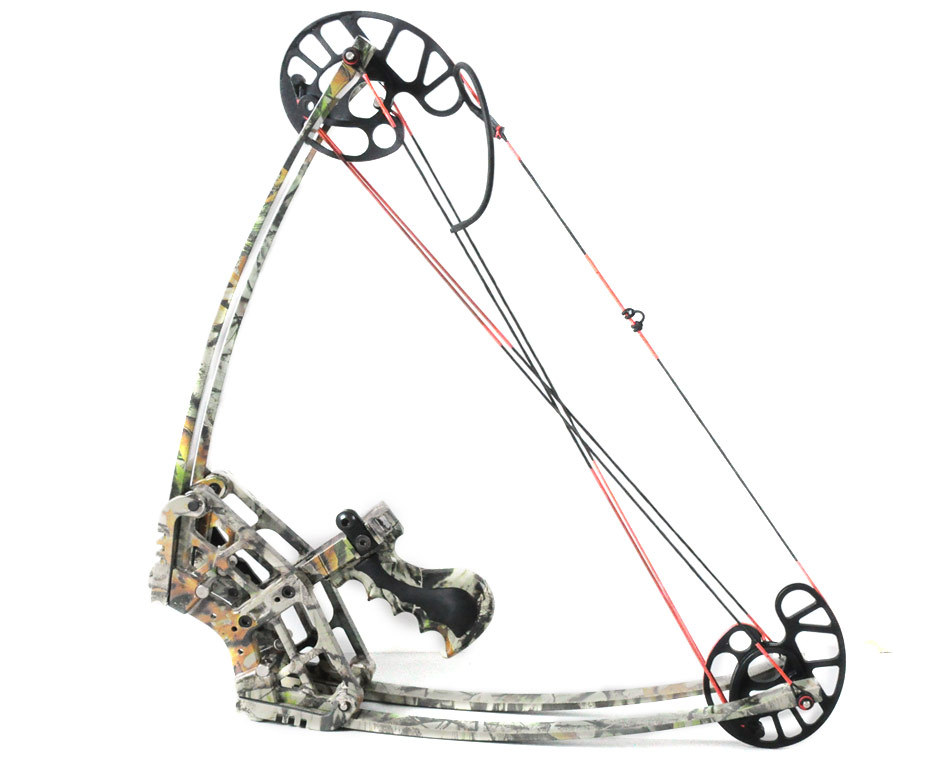 Camo hunting bow set camouflage triangle hunting compound for Compound bow fishing