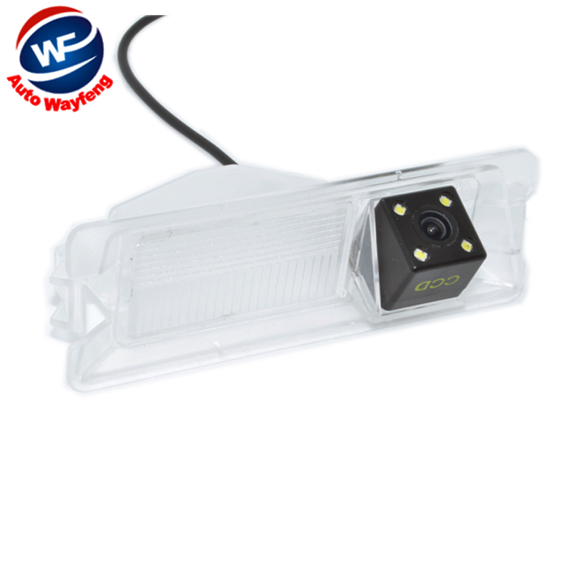 Special Car Rearview Rear View Reverse backup Camera CCD HD Night vision 4 LEDS For Nissan March Renault Logan Renault Sandero W(China (Mainland))