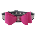New Soft Lovely Pet Products Dog Collar Bowtie Sparkly Rhinestone Decoration Adjustable Quick Release Puppy Necklace