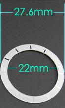 Glass J12 watch bezel fit for ceramic J12 ceramic watch  d.e.18666l  (white/black) watch aftermarket parts(China (Mainland))